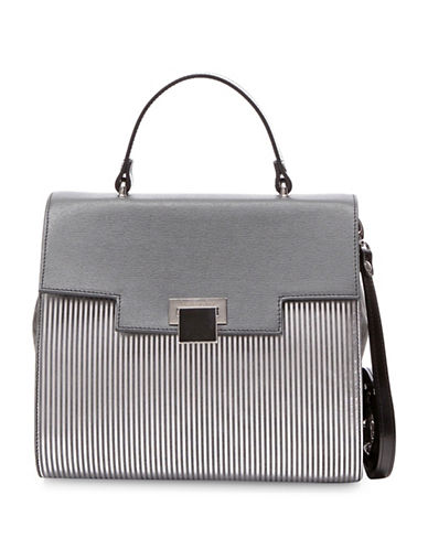 Braccialini Linda Saffiano Leather Crossbody Bag-GREY-One Size