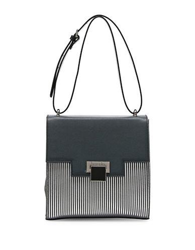 Braccialini Linda Saffiano Leather Handbag-GREY-One Size