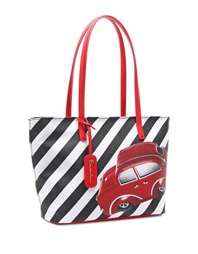 Braccialini New Lady B Iconic Printed Shopper-RED CAR-One Size