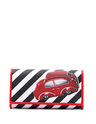 Braccialini New Lady B Iconic Printed Continental Wallet-RED-One Size