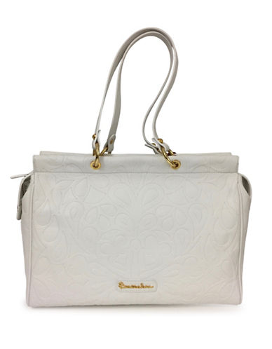 Braccialini Isabella Hot Print Leather Shopper-WHITE-One Size