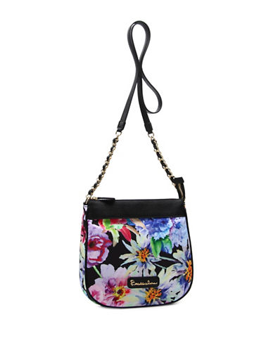 Braccialini Alessandra Floral-Printed Crossbody Bag-BLACK-One Size