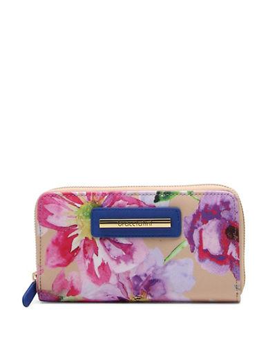 Braccialini Cristina Floral Printed Wallet-BEIGE-One Size