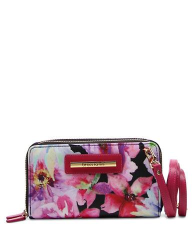 Braccialini Cristina Floral Printed Clutch Wallet-BLACK MULTI-One Size