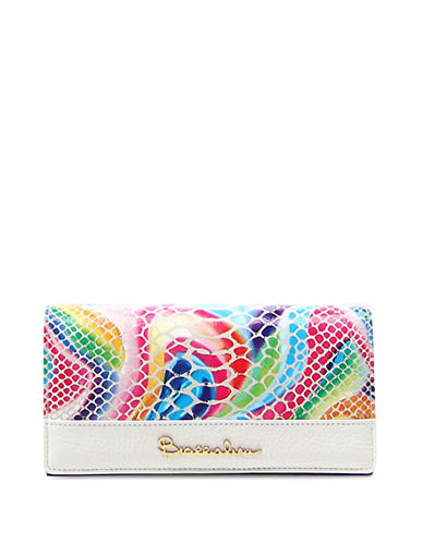 Braccialini Martina Sequins Leather Continental Wallet-WHITE MULTI-One Size