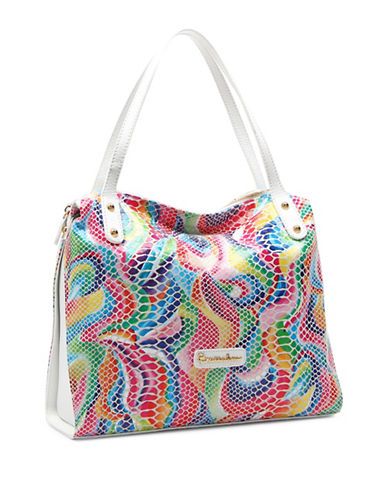 Braccialini Martina Sequins Leather Shopper-WHITE MULTI-One Size