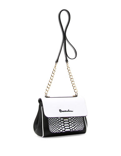 Braccialini Chiara Leather Crossbody Bag-WHITE-One Size