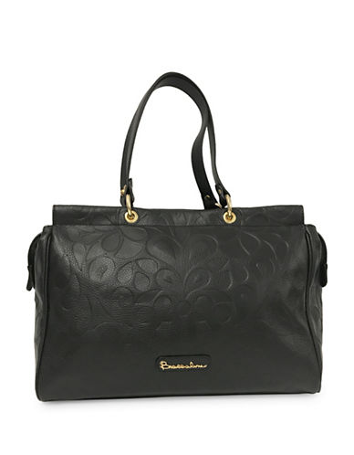 Braccialini Isabella Hot Print Leather Shopper-BLACK-One Size