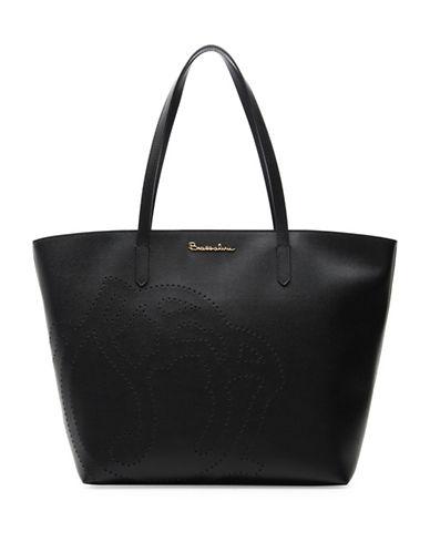 Braccialini New Ninfea Leather Tote-BLACK-One Size 89187170_BLACK_One Size