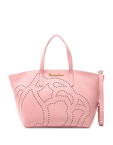 Braccialini New Ninfea Leather Tote-PINK-One Size