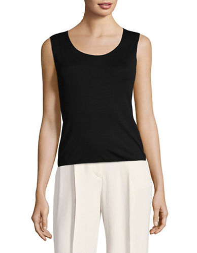 Armani Collezioni Stretch Tank Top-BLACK-EUR 40/US 4