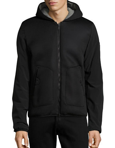 Armani Jeans Reversible Hooded Zip Coat-BLACK-XX-Large 88457667_BLACK_XX-Large
