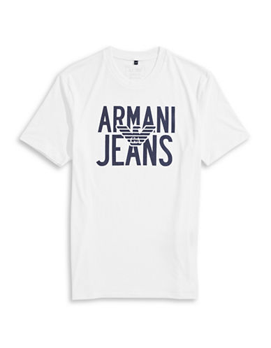 Armani Jeans Jersey Eagle Logo T-Shirt-WHITE-Small 88458069_WHITE_Small