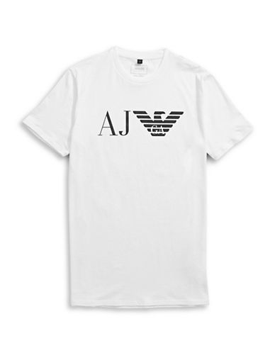 Armani Jeans AJ and Eagle T-Shirt-WHITE-X-Small