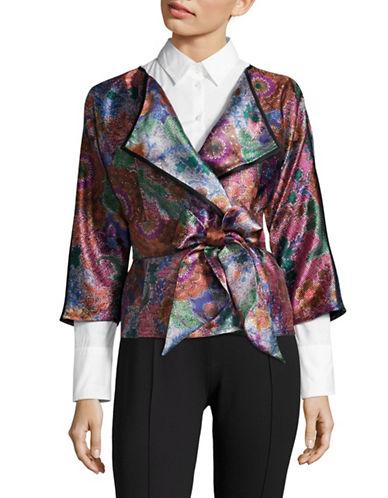 Armani Collezioni Floral Jacquard Robe Jacket-MULTI-EUR 50/US 14
