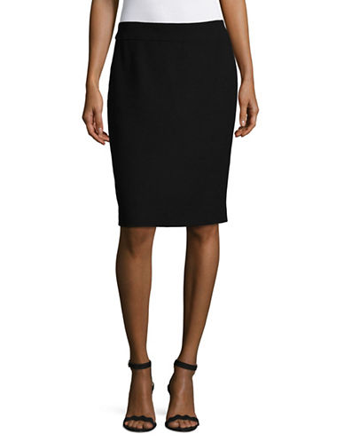 Armani Collezioni Stretch Slim Pencil Skirt-BLACK-13X72 INCHES