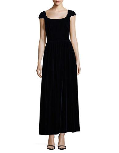 Armani Collezioni Velvet Floor-Length Gown-NAVY-EUR 40/US 4