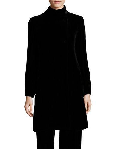 Armani Collezioni Velvet Coat-BLACK-EUR 44/US 8