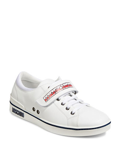 Moschino Vitello Leather Sneakers-WHITE-EU 39/US 6