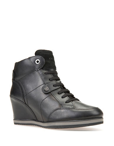 Geox Wedge Sneakers-BLACK-EUR 39/US 9