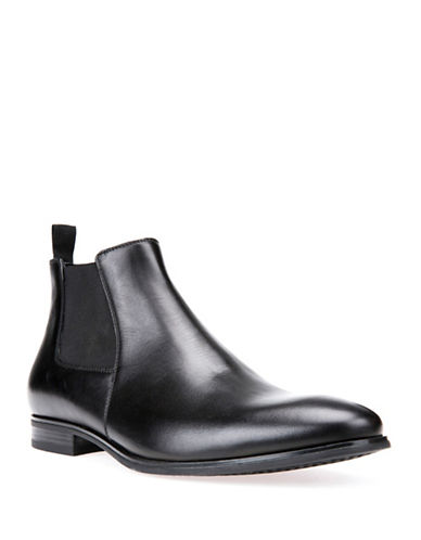 Geox Mens U Albert 2Fit I Leather Chelsea Boots-BLACK-8.5