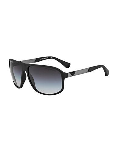 Emporio Armani 0EA4029 64mm Shield Sunglasses-MATTE GUNMETAL-One Size