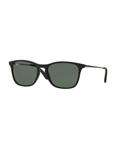 Ray-Ban Junior Chris  45mm Rectangular Sunglasses-BLACK-One Size