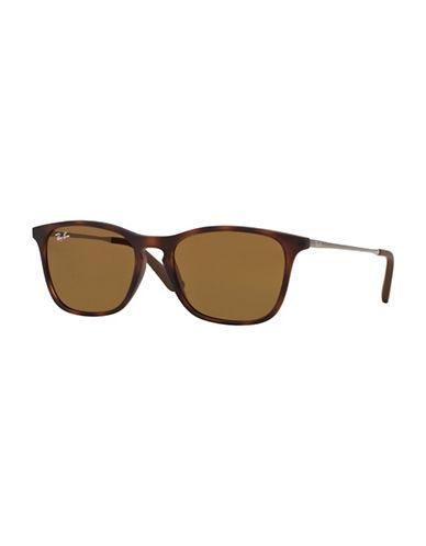Ray-Ban Junior Chris  45mm Rectangular Sunglasses-HAVANA-One Size