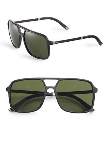Dolce & Gabbana DG4241 58mm Square Aviator Sunglasses-BLACK-One Size