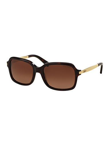 Ralph By Ralph Lauren Eyewear 55mm Square Sunglasses-TORTOISE (POLARIZED)-One Size