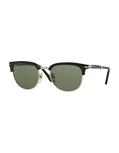 Persol Polar Icona 51mm Clubmaster Sunglasses-BLACK-One Size