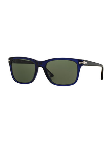 Persol Officina 55mm Square Sunglasses-BLUE-One Size