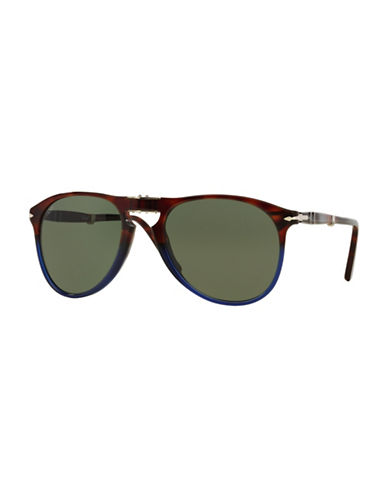 Persol Icona 55mm Aviator Sunglasses-TORTOISE/BLUE-One Size