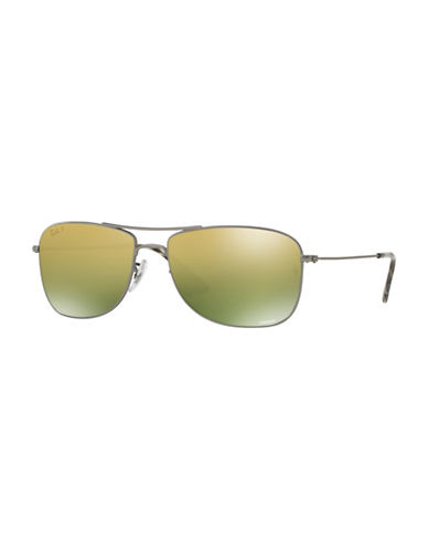 Ray-Ban Chromance 59mm Navigator Sunglasses-DARK GREY-One Size