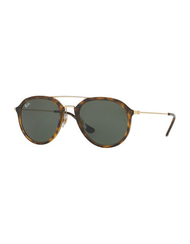 Ray-Ban 53mm Rimmed Aviator Sunglasses-TORTOISE-53 mm