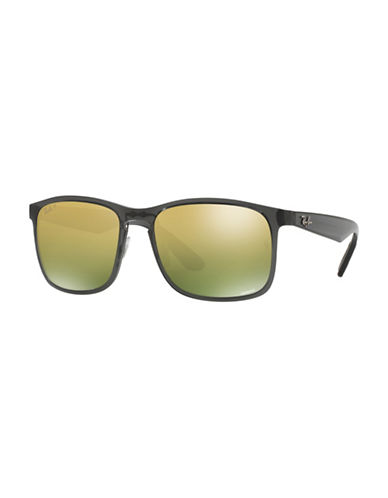 Ray-Ban Chromance 58mm Square Sunglasses-GREY-One Size