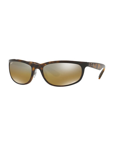 Ray-Ban Chromance 62mm Flat Wrap Sunglasses-BROWN-One Size