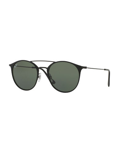 Ray-Ban Highstreet Round Double Brow Bar 52mm Phantos Sunglasses-BLACK-One Size