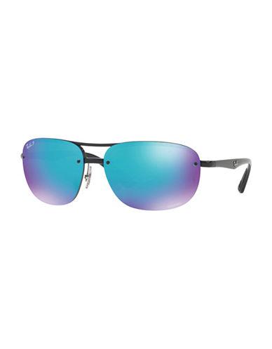 Ray-Ban Chromance Naviator Sunglasses-BLUE-One Size