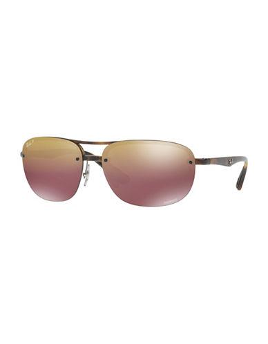 Ray-Ban Chromance Naviator Sunglasses-BROWN-One Size