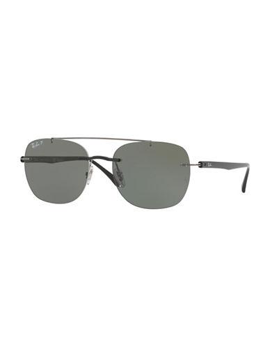 Ray-Ban Rimless Navigator Sunglasses-BLACK-One Size
