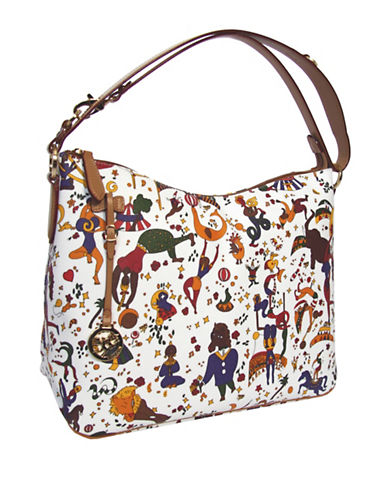 Piero Guidi Magic Circus Print Shoulder Bag-WHITE-One Size
