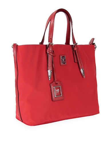 Piero Guidi Lineabold Tote-RED-One Size