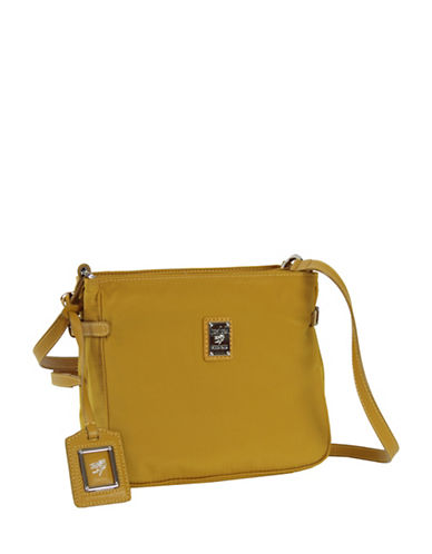 Piero Guidi Lineabold Crossbody Satchel-YELLOW-One Size