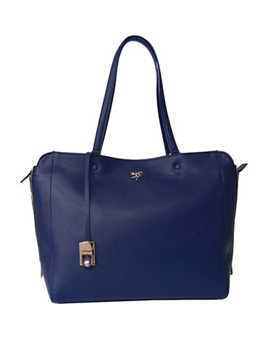 Piero Guidi Magic Circus Leather Tote-BLUE-One Size