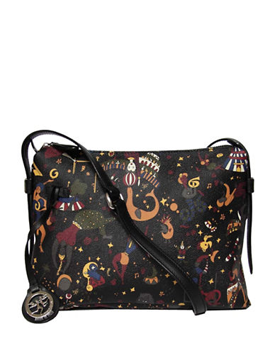 Piero Guidi Magic Circus Textured Crossbody Bag-BLACK-One Size