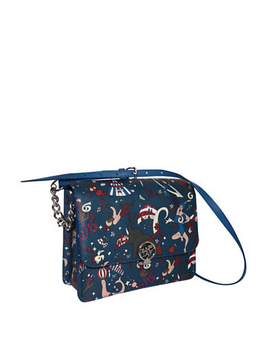Piero Guidi Magic Circus Coated Canvas Crossbody Bag-BLUE-One Size