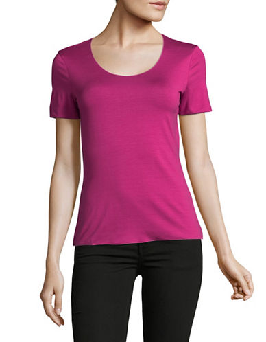 Armani Collezioni Round Neck T-Shirt-PURPLE-EUR 40/US 4