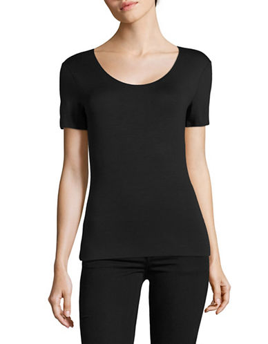 Armani Collezioni Round Neck T-Shirt-BLUE-EUR 40/US 4