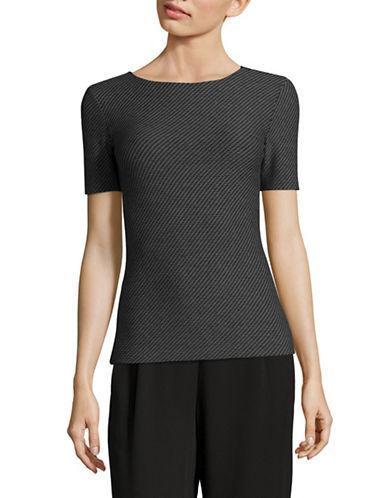 Armani Collezioni Textured Jersey T-Shirt-BLUE/BLACK-EUR 50/US 14